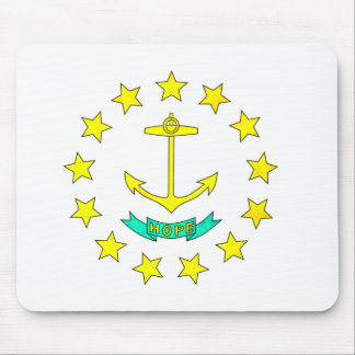 Colorful Contrast Rhode IslanderFlag Mouse Pad