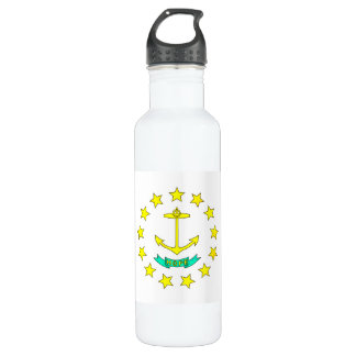 Colorful Contrast Rhode IslanderFlag 24oz Water Bottle