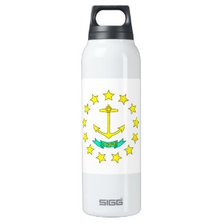 Colorful Contrast Rhode IslanderFlag 16 Oz Insulated SIGG Thermos Water Bottle
