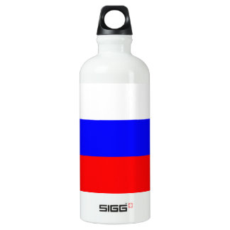 Colorful Contrast RussianFlag Aluminum Water Bottle