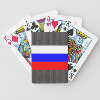 Colorful Contrast RussianFlag Bicycle Playing Cards