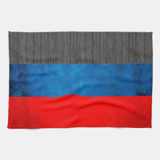 Colorful Contrast RussianFlag Towel