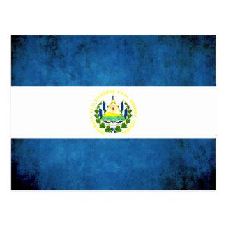 Colorful Contrast Salvadoran Flag Postcard
