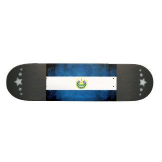 Colorful Contrast Salvadoran Flag Skate Decks