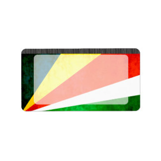 Colorful Contrast SeychelloisFlag Label
