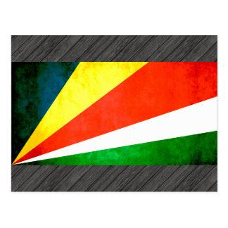 Colorful Contrast SeychelloisFlag Postcard