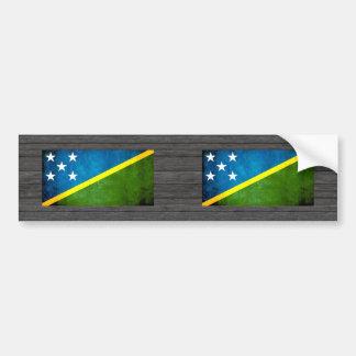 Colorful Contrast Solomon IslanderFlag Bumper Sticker