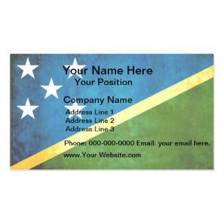 Colorful Contrast Solomon IslanderFlag Double-Sided Standard Business Cards (Pack Of 100)