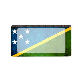Colorful Contrast Solomon IslanderFlag Label