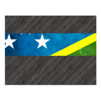 Colorful Contrast Solomon IslanderFlag Postcard