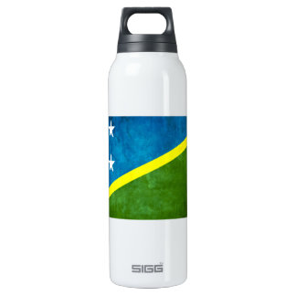 Colorful Contrast Solomon IslanderFlag 16 Oz Insulated SIGG Thermos Water Bottle