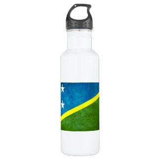 Colorful Contrast Solomon IslanderFlag Water Bottle