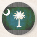 Colorful Contrast South CarolinianFlag Sandstone Coaster