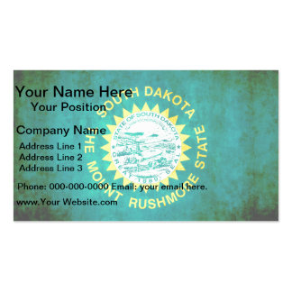 Colorful Contrast South DakotanFlag Double-Sided Standard Business Cards (Pack Of 100)