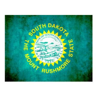 Colorful Contrast South DakotanFlag Postcard