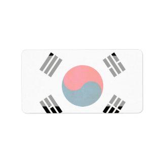 Colorful Contrast South KoreanFlag Label
