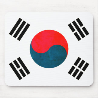 Colorful Contrast South KoreanFlag Mouse Pad