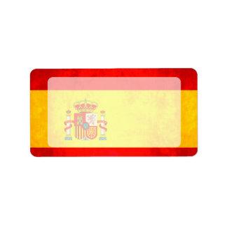 Colorful Contrast SpanishFlag Label