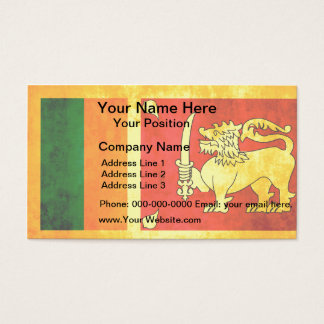 Colorful Contrast Sri LankanFlag Business Card