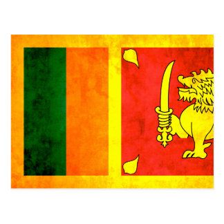 Colorful Contrast Sri LankanFlag Postcard