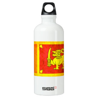 Colorful Contrast Sri LankanFlag Water Bottle