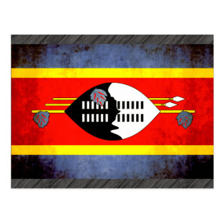 Colorful Contrast SwaziFlag Postcard