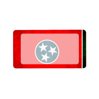 Colorful Contrast TennesseanFlag Label