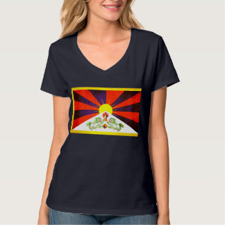 Colorful Contrast TibeteseFlag T-Shirt