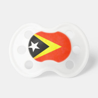 Colorful Contrast Timorese Flag Pacifier