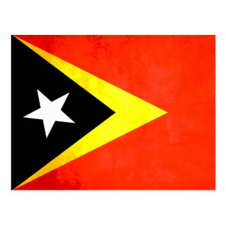 Colorful Contrast Timorese Flag Postcard
