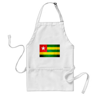 Colorful Contrast TogoleseFlag Adult Apron