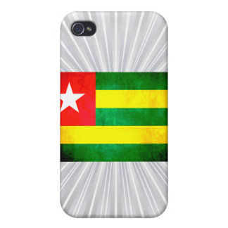 Colorful Contrast TogoleseFlag Cover For iPhone 4