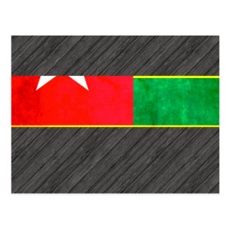Colorful Contrast TogoleseFlag Postcard