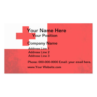 Colorful Contrast TonganFlag Business Cards