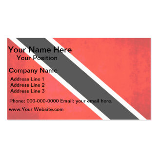 Colorful Contrast TrinidadianFlag Business Card