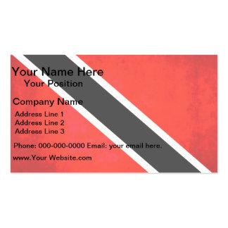 Colorful Contrast TrinidadianFlag Business Card