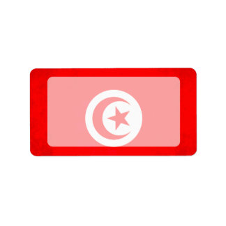 Colorful Contrast TunisianFlag Address Label