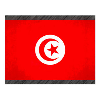 Colorful Contrast TunisianFlag Postcard