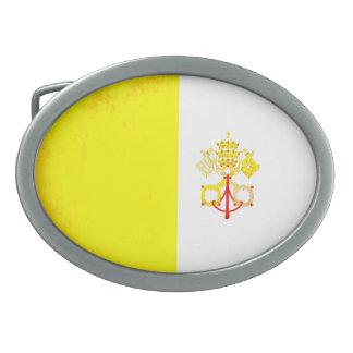 Colorful Contrast VaticanFlag Oval Belt Buckles