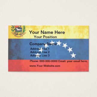 Colorful Contrast VenezuelanFlag Business Card