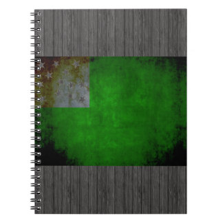 Colorful Contrast VermontFlag Notebook