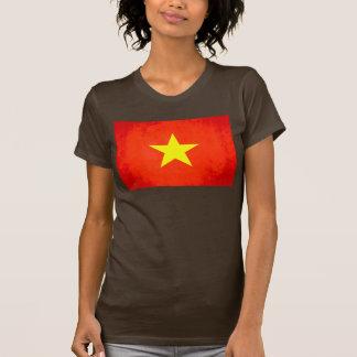 Colorful Contrast VietnameseFlag Tee Shirt