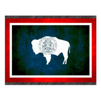 Colorful Contrast WyomingiteFlag Postcard