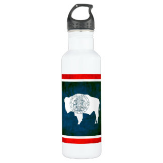 Colorful Contrast WyomingiteFlag Stainless Steel Water Bottle