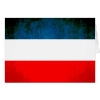 Colorful Contrast Yugoslavian Flag Card