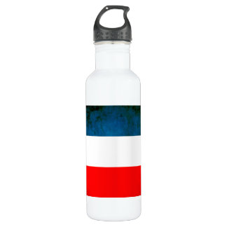 Colorful Contrast Yugoslavian Flag Stainless Steel Water Bottle