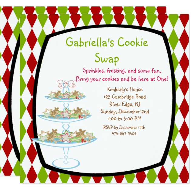 Cookie Swap Invitations for great invitation example