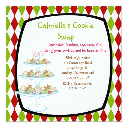 Cookie Swap Invitations with best invitation example