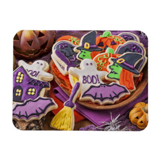 Colorful Cookies For Halloween Party Rectangular Magnets