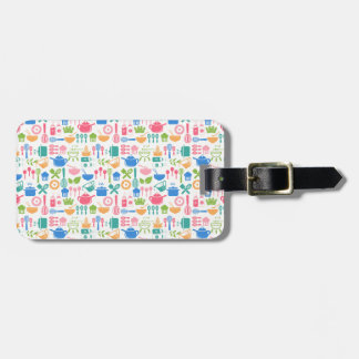 Colorful Cooking Utensils Luggage Tag